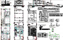 One family housing architecture project dwg file