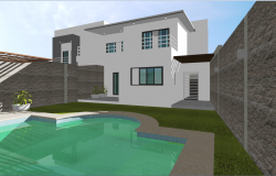 One family housing drawings and renderings in 3d
