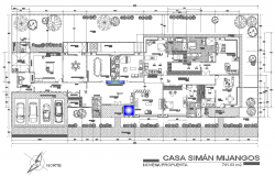 One story house planning dwg file