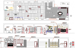 One story mini market auto-cad details dwg file