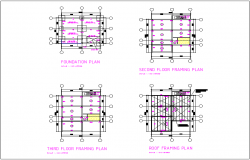 One-way slab structure detail dwg file