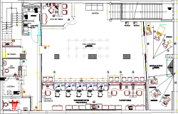 Open Air Music Night Club Space Design Elevation dwg file