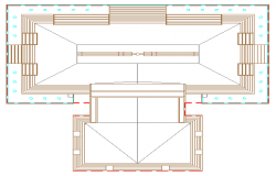 Open air theater out door stage design drawing