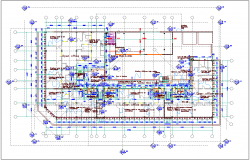 Open office plan design view dwg file