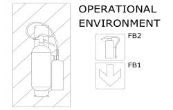 Operational environment of fire block view dwg file