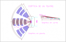 Optical of theater plan with section view dwg file