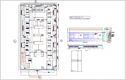 Optical showroom plan and elevation dwg file