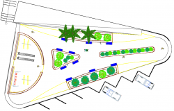 Outdoor Kids Park playground plan view detail dwg file