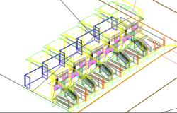 Paired housings 3 d remains plan dwg file
