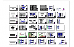 Panel Layout Of Oil and Gas Industry dwg file