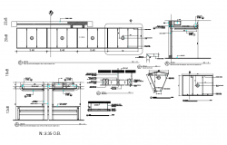 Panel counter joint with view of suspend ceiling with structure view dwg file