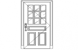 Panelled type of door detailing