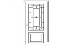 Panlled type of door elevation