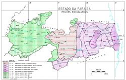 Paraíba State Brazil MAP CAD Drawing