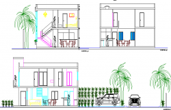 Paradise villa full sectional details project dwg file