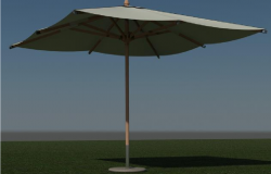 Parasol with free standing base of garden design dwg file