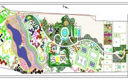 Park detail layout with description.