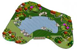 Park layout with detail.