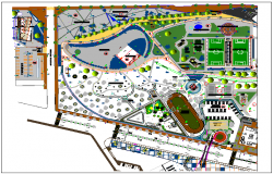 Park plan detail view dwg file