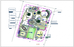 Park plan view detail dwg file