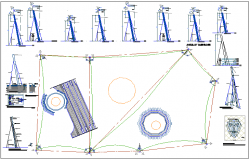 Park with bio-climatic concept climbers special mesh structure dwg file