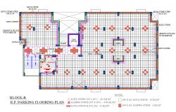 Parking Floor plan dwg file