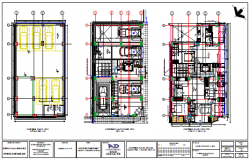 Parking design drawing of family  project design drawing