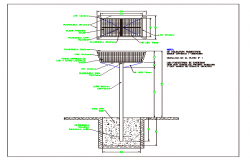 Part hole packages construction details dwg file