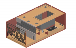 Partition 3d house design