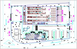 Pasta industries floor plan view dwg file
