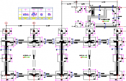 Pavilion Architecture College and Structure Elevation dwg file