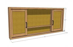 Pegboard tool cabinet 3d block cad drawing details skp file