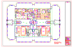 Pent House Lay-out  design cad File