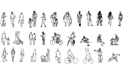 People women and men detail dwg file