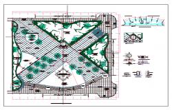 Pereirariver restoration public park landscaping details dwg file