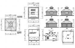 Pergola Design AutoCAD Drawing