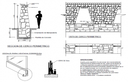 Perimeter fence design drawing