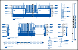 Perimeter fence details of main entry gate of house dwg file