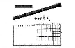 Perimeter fence section, plan and installation details dwg file