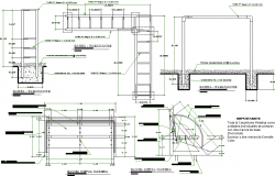 Perogola sectional detail dwg file