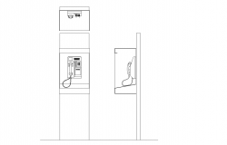 Phone booth plan detail dwg.,