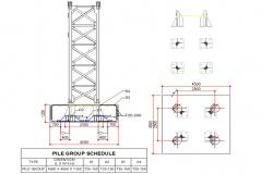 Pile Structure Plan DWG File