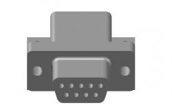 Pin connector 3d file