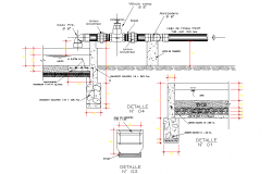 Pipe line section detail autocad file