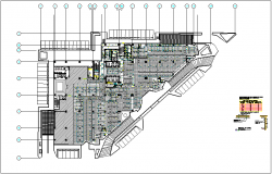 Pipe line view for fire system for corporate office dwg file