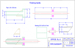 Pipe section view detail dwg file
