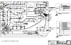 Plan Electrical and working detail dwg file
