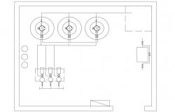 Plan Of Machine Room DWG File Free