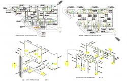 Plan Of Toilet With Sanitary Design AutoCAD File