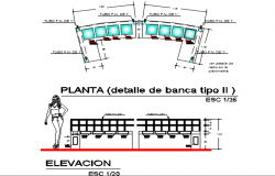 Plan and Elevation plan detail dwg file
